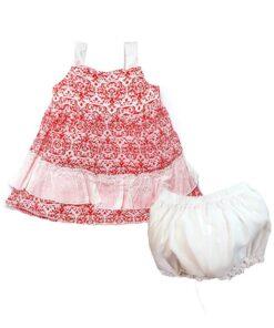 Kız Bebek Elbise Şort Takım