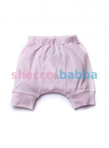 Kız Bebek Kapri Şalvar Pantolon Pembe Beyaz