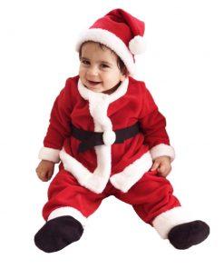 Bebek Noel Baba Kostümü Yerli Üretim