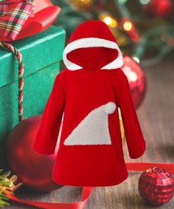 çocuk noel kapişonlu elbise2500 111-1500