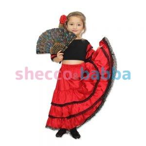 Ispanyol Kız Çocuk Kostümü