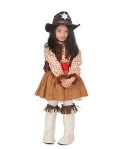 Kız Çocuk Kovboy Kostümü