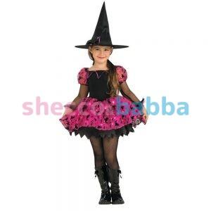 cadılar bayramı ışıklı çocuk cadı kostümü