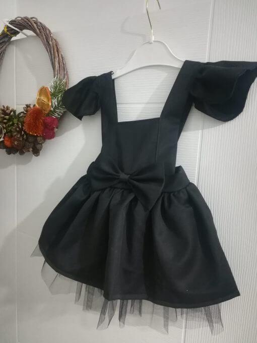 Fiyonklu Kız Bebek Elbisesi