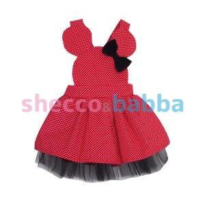 Kırmızı Puantiyeli Çocuk Elbisesi
