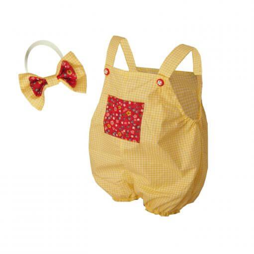 Kız Bebek Tulum Bandana Takım