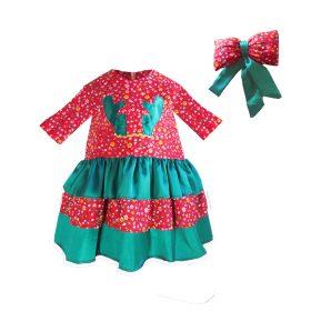 Kız Çocuk Noel Elbise Kız Çocuk Yılbaşı Elbisesi