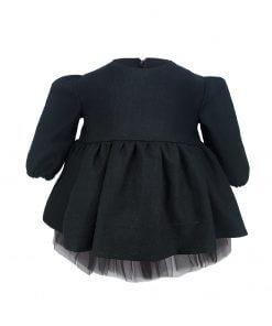 Kız Çocuk Siyah Tütü Elbise Uzun Kollu