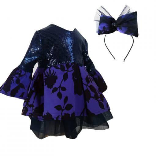 Kız Çocuk Doğum Günü Elbisesi Kız Çocuk Abiye Elbise Kız Çocuk Parti Elbisesi Kız Çocuk Payetli Elbise Kız Çocuk Lacivert Payetli Elbise