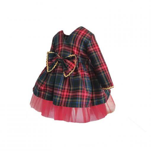 Kız Çocuk Noel Elbise Kız Çocuk Noel Anne Yılbaşı Özel Kız Çocuk Elbise Kırmızı Yeşil Ekose Noel Elbise