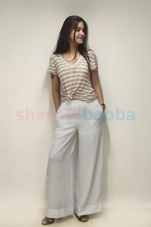 Beyaz Kadın Pantolon