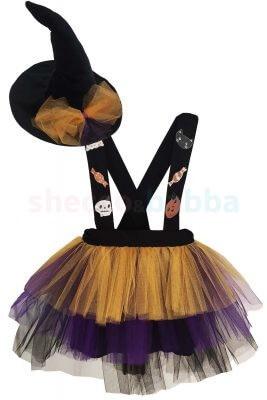 Kız Çocuk Cadı Kostümü , Cadı Şapkası