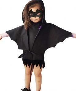 Cadılar Bayramı Kız Çocuk Yarasa Pelerin ve Yarasa Maske