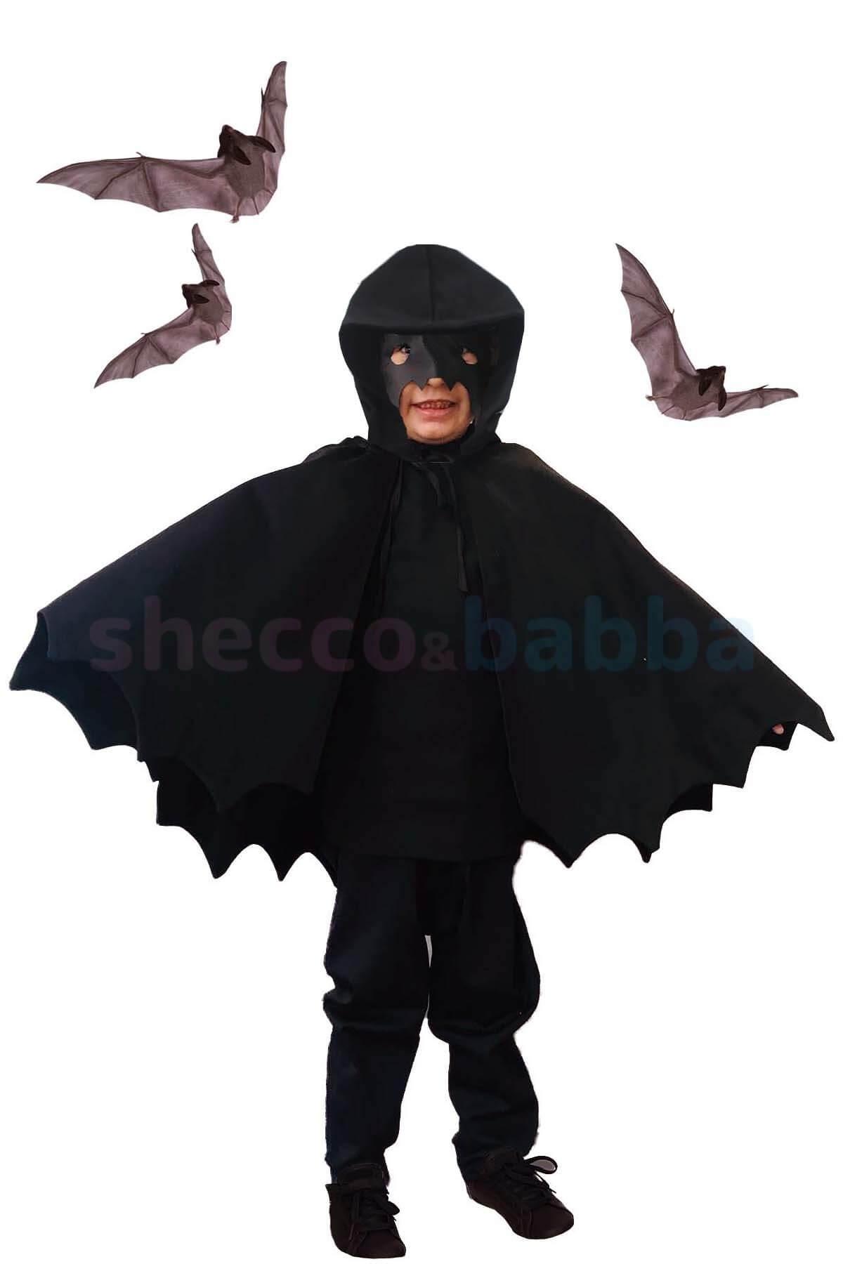 Cadılar Bayramı Çocuk Pelerin Siyah